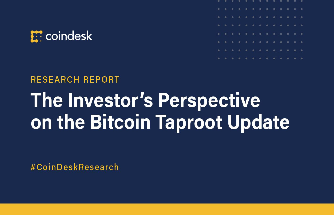 The Investor's Perspective on the Bitcoin Taproot Upgrade